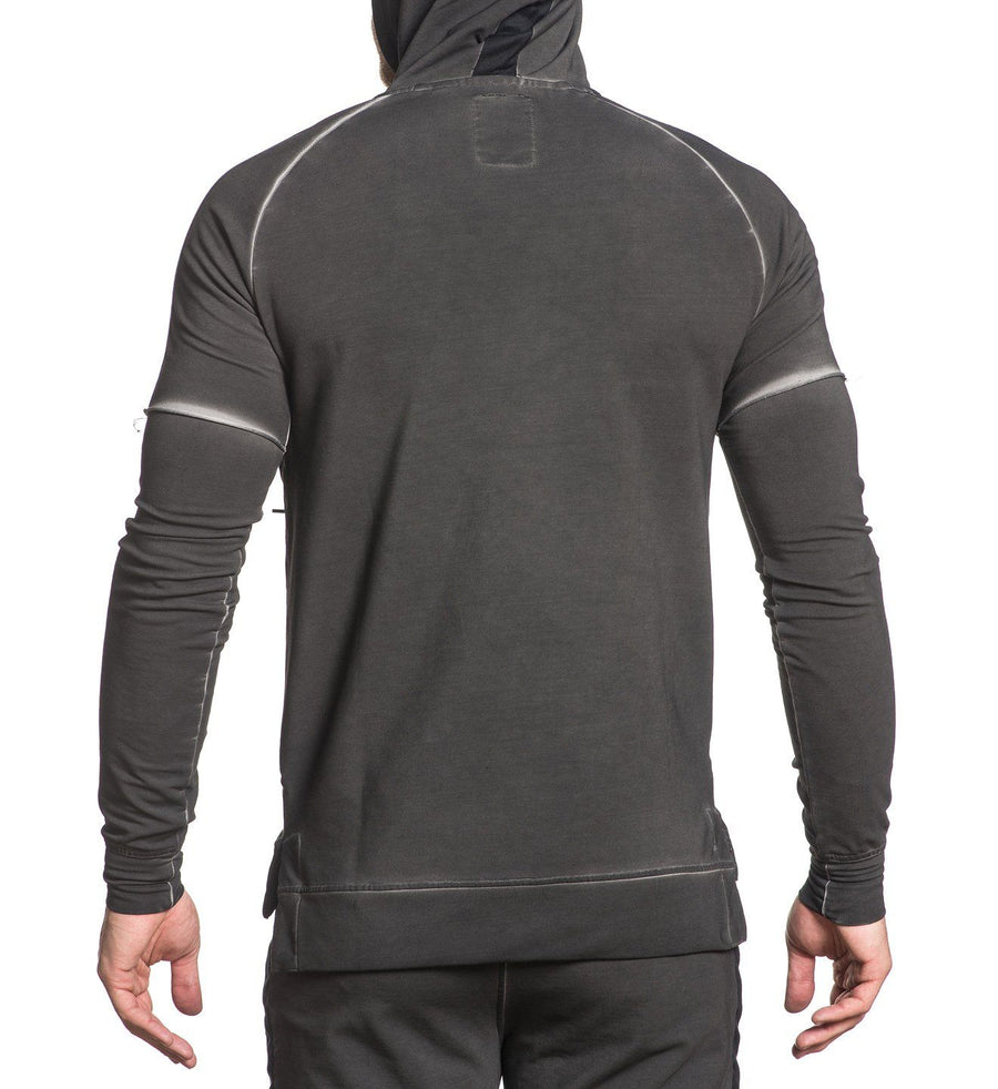 Mens Hooded Sweatshirts - Blackout Pullover