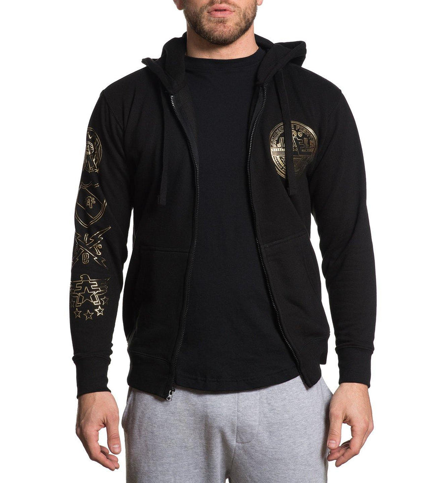 Herzing - Mens Hooded Sweatshirts - American Fighter