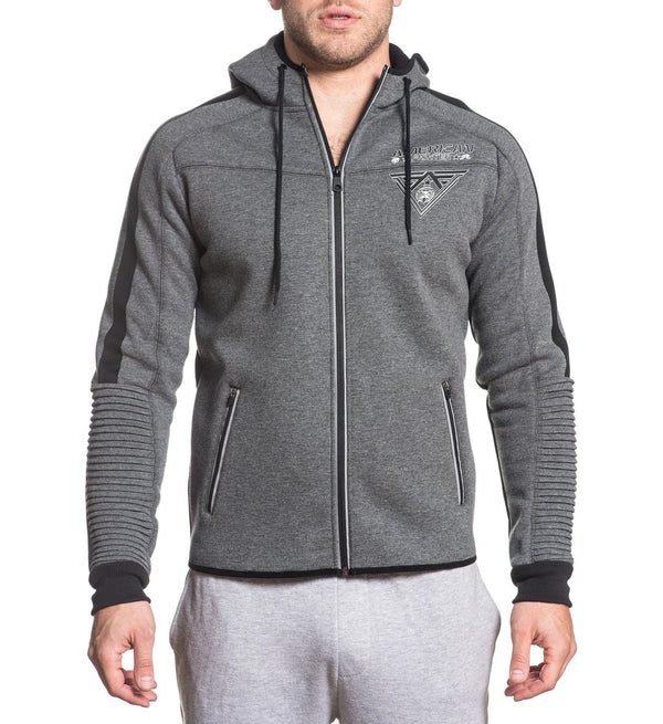 Mens Hooded Sweatshirts - Rise And Thrive Zip Hood