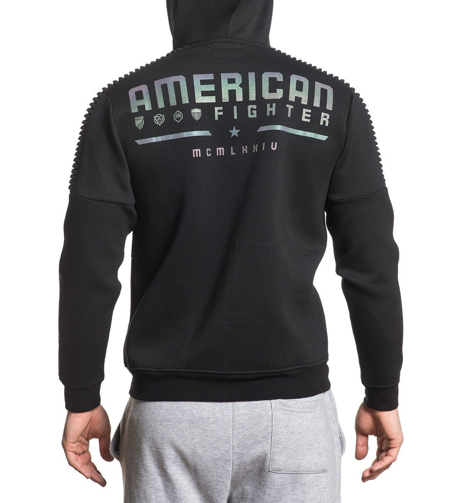 Strategic Zip Hood - Mens Hooded Sweatshirts - American Fighter