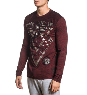 Alaska - Mens Long Sleeve Tees - American Fighter