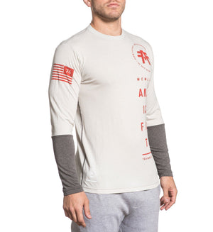 Double Stacked - Mens Long Sleeve Tees - American Fighter