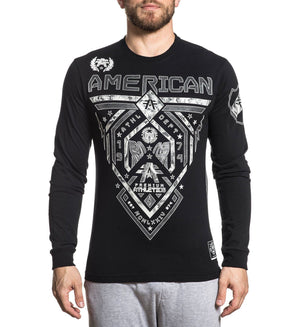 Fairbanks - Mens Long Sleeve Tees - American Fighter