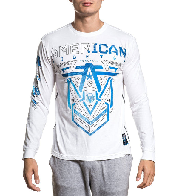 Glover - Mens Long Sleeve Tees - American Fighter