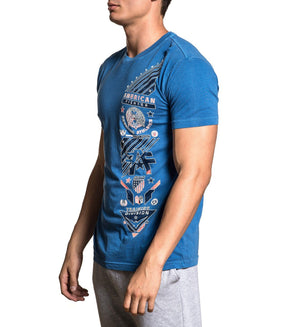 Gladbrook - Mens Short Sleeve Tees - American Fighter