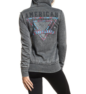 Clearmont Artisan Zip Hood - Womens Hooded Sweatshirts - American Fighter