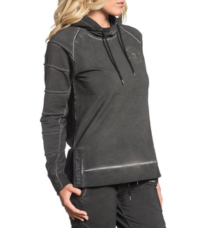 Paved Pullover Hood - Womens Hooded Sweatshirts - American Fighter