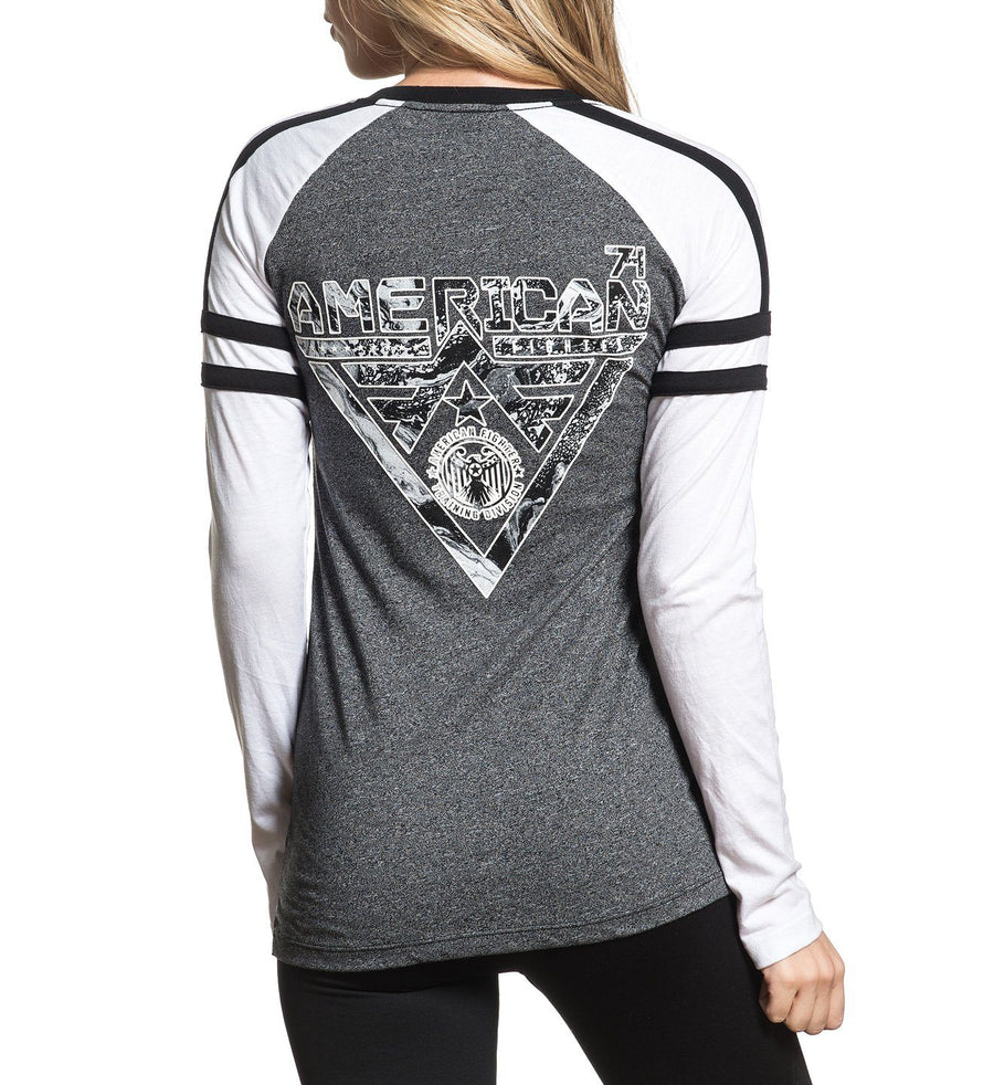 Alaska Marble - Womens Long Sleeve Tees - American Fighter