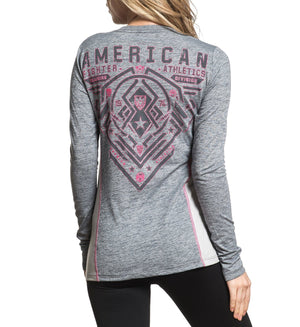 Brimley - Womens Long Sleeve Tees - American Fighter