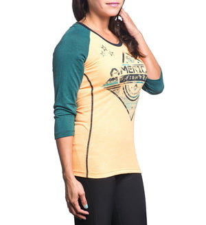 Womens Long Sleeve Tees - Colby 3/4 Paneled Raglan