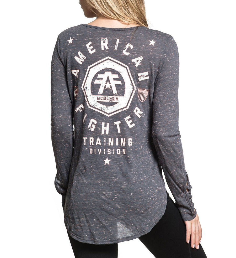 Edgewater - Womens Long Sleeve Tees - American Fighter