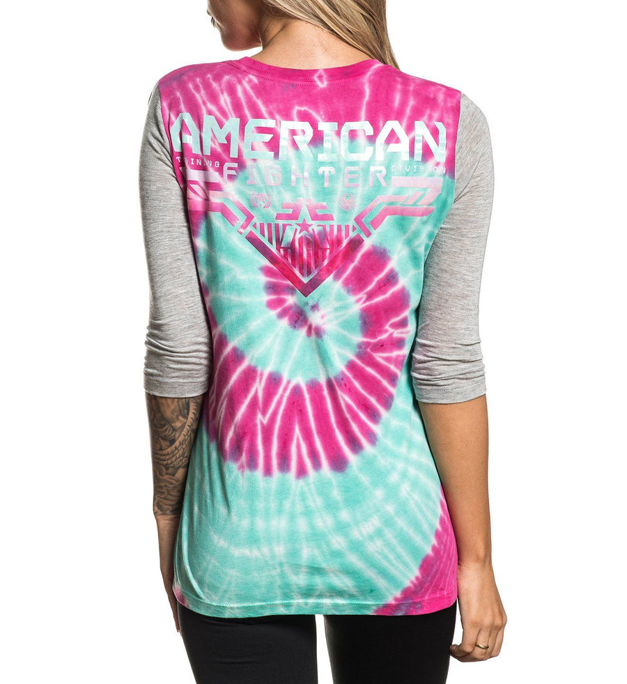 Womens Long Sleeve Tees - Everson 3/4 Crew