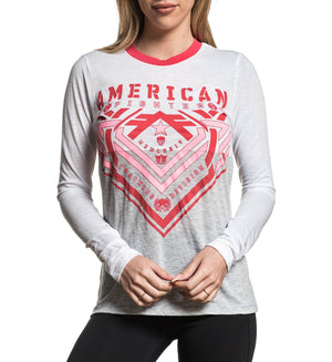 Parkside - Womens Long Sleeve Tees - American Fighter