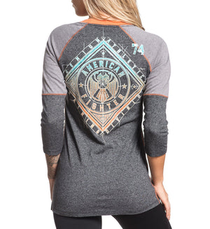 Siena Heights - Womens Long Sleeve Tees - American Fighter