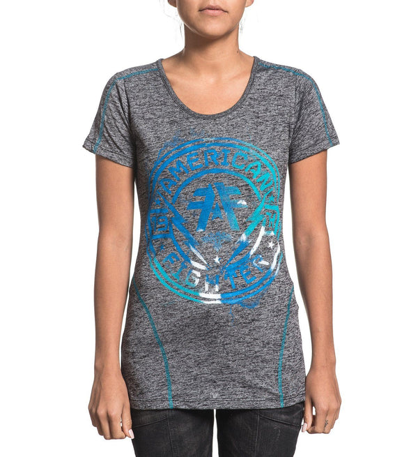 Langley - Womens Short Sleeve Tees - American Fighter