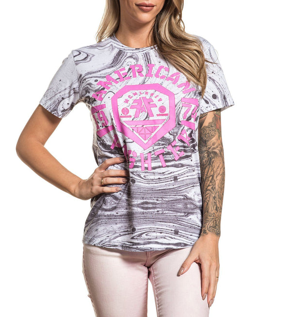Weathers - Womens Short Sleeve Tees - American Fighter