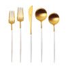 Goa Gold/White 5-Piece Place Setting