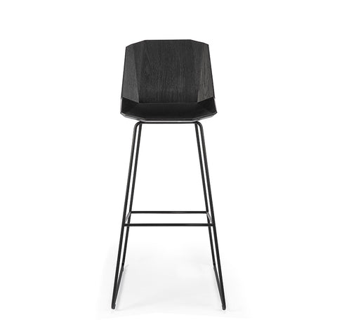 Facette Bar Stool, Black Oak 108cm