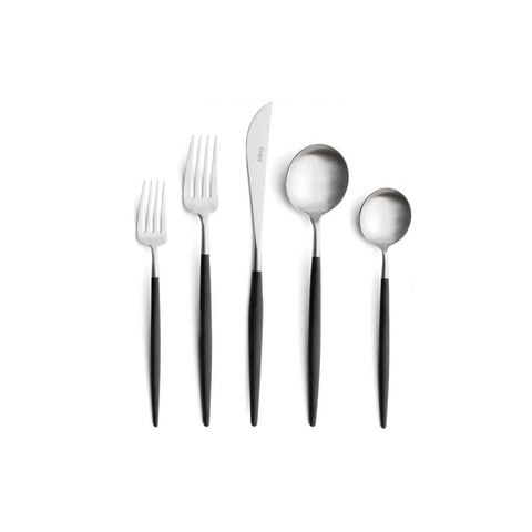 Goa Stainless/Black 5-Piece Place Setting