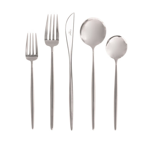 Moon Polished Stainless 5-Piece Place Setting