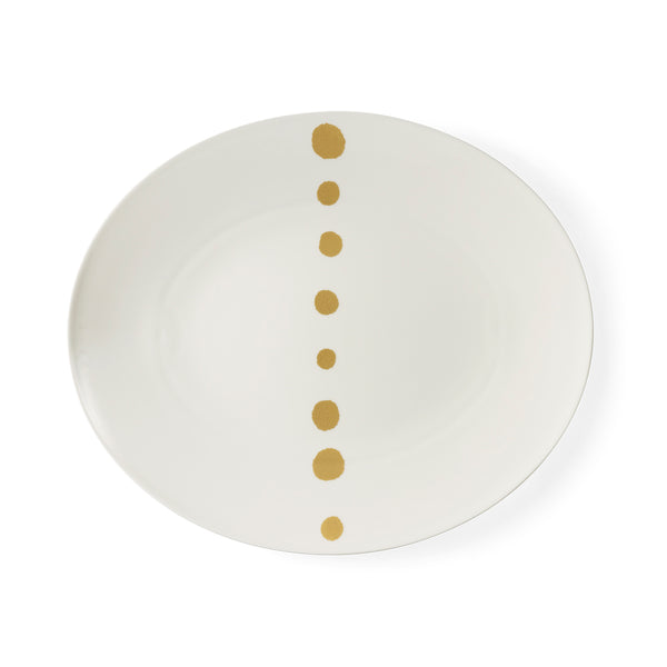 Golden Pearls Oval Platter, 39cm