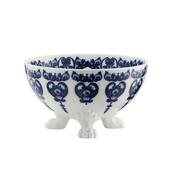 Babele Large Footed Bowl, Blue