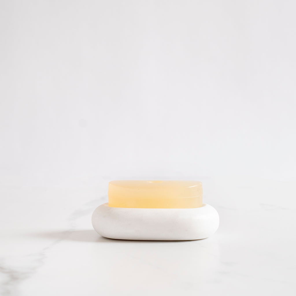 Honed Marble Soap Dish