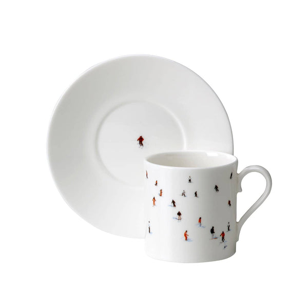 Skiers Espresso Cup & Saucer
