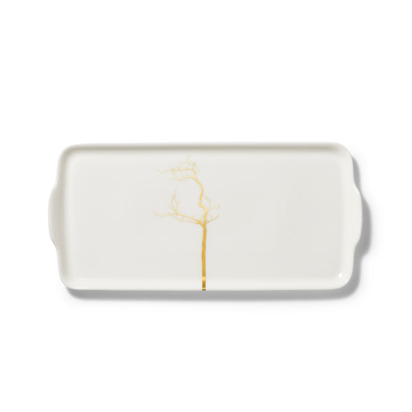Golden Forest Rectangular Dish 15x32cm