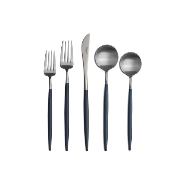 Goa Stainless/Blue 5-Piece Place Setting