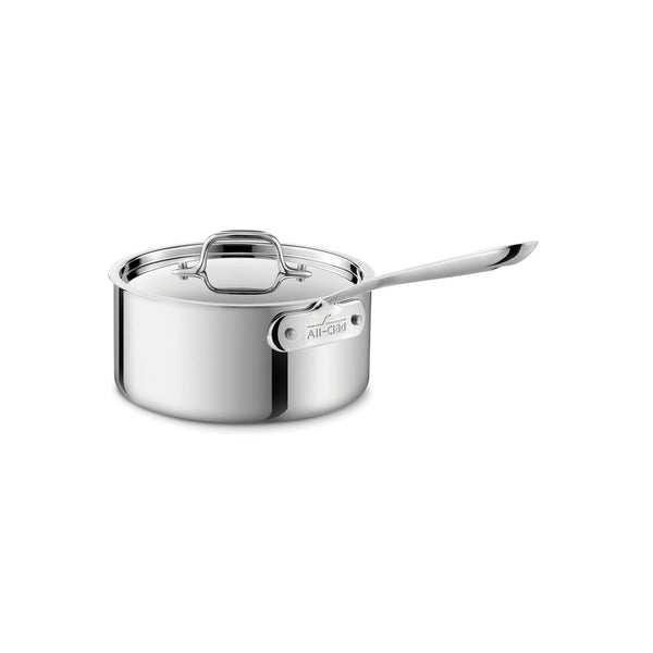 D3 Stainless Sauce Pan w/Lid, 4QT