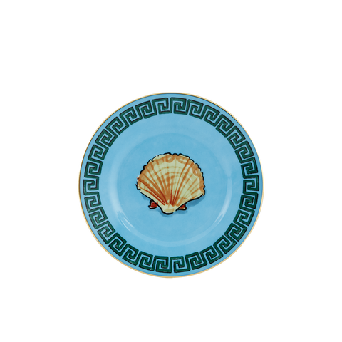 Luke Edward Hall Il Viaggio Di Nettuno Canapé/Bread Plate, Sea Blue