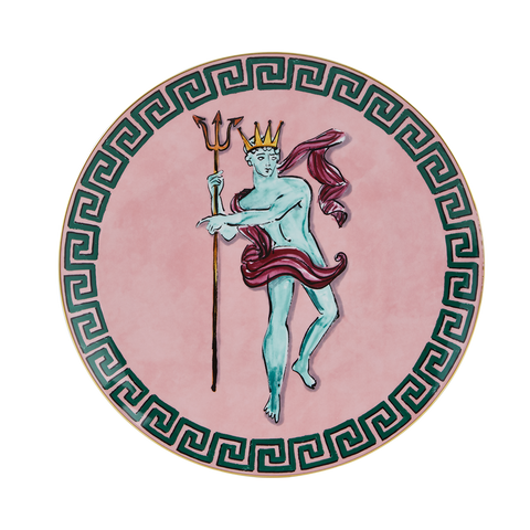 Luke Edward Hall Il Viaggio Di Nettuno Centerpiece and Charger Plate, Pink