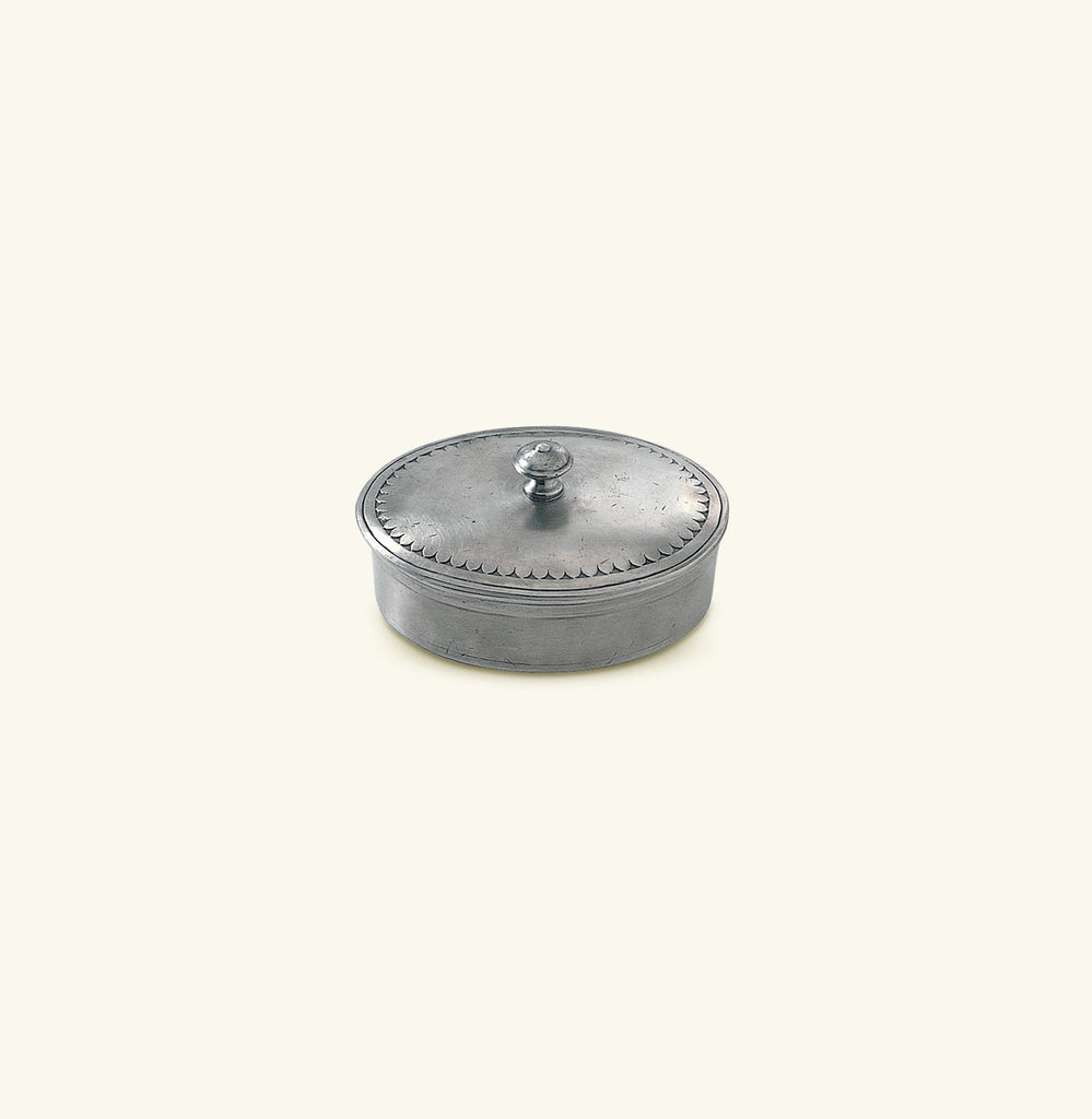 Oval Lidded Box, 4.5 x 3.5