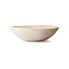 Crafted Wooden Bowl, White, 15