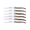 Solid Horn Steak Knives, Set/6