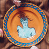 Luke Edward Hall Il Viaggio Di Nettuno Dessert Plate, Rock Orange