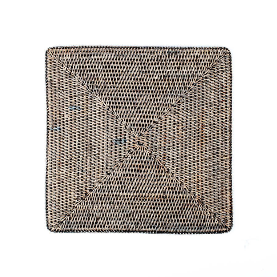 Wicker Placemat, Square Grey Wash