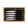 Ebony Steak Knives, S/6