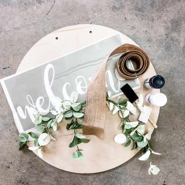 Welcome Door Hanger homeMAKER DIY Kit