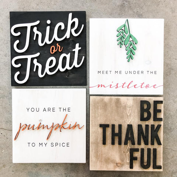 3D Holiday Bundle Sign Set