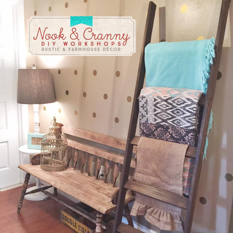 August 17th 6:30pm Farmhouse Blanket Ladder OR Photo Ladder Workshop
