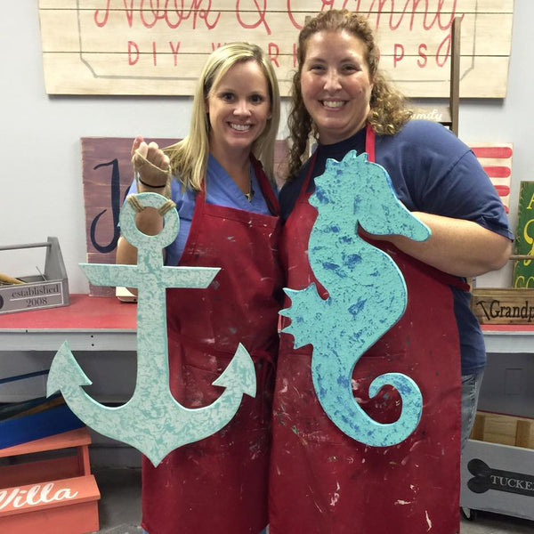 June 29th 6:30pm Nautical WOOD Cut Outs {with personalization option!}