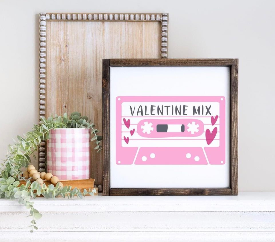 """Valentine Mix"" Framed Sign Kit {unfinished}"