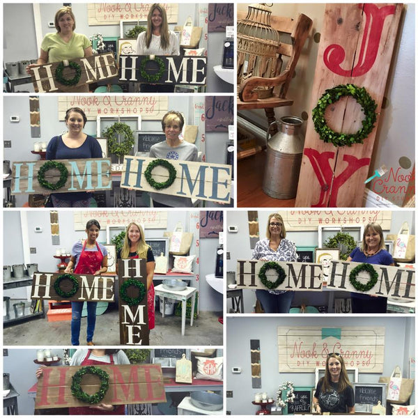 October 26th 6:30pm Boxwood Wreath Signs