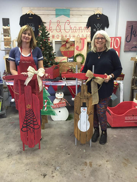 October 21st 10am Rustic Decorative Porch Sled