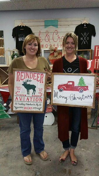 October 28th 2pm Holiday Pallet Signs