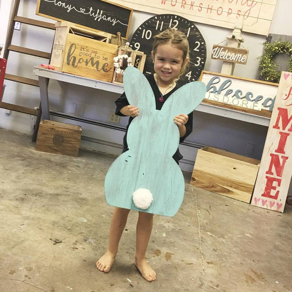 March 24th 2pm Mini Maker KID'S Workshop ~ NEW Free-Standing BUNNY
