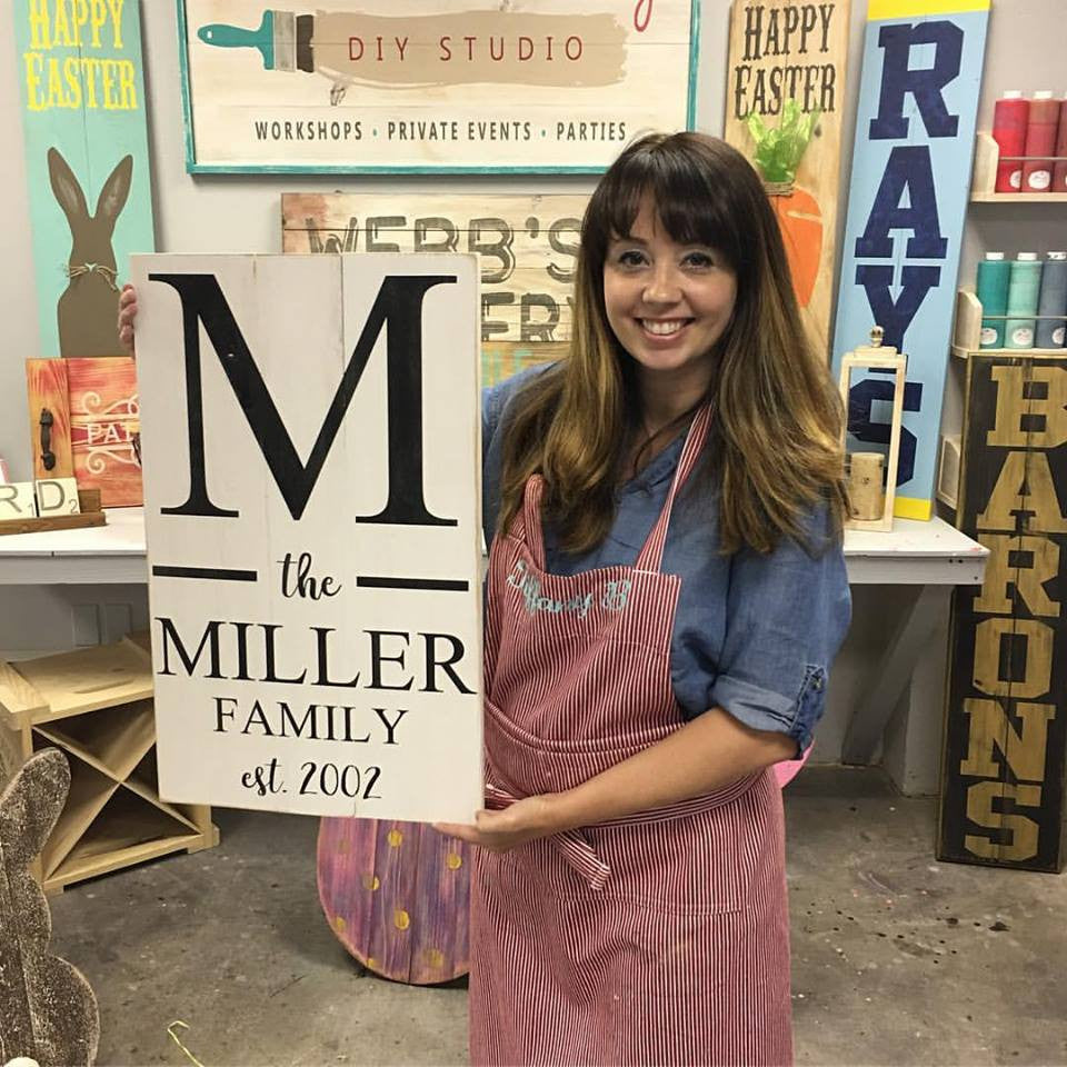 February 15th 6:30pm Modern Farmhouse Established Sign {personalized and two sizes to pick from}