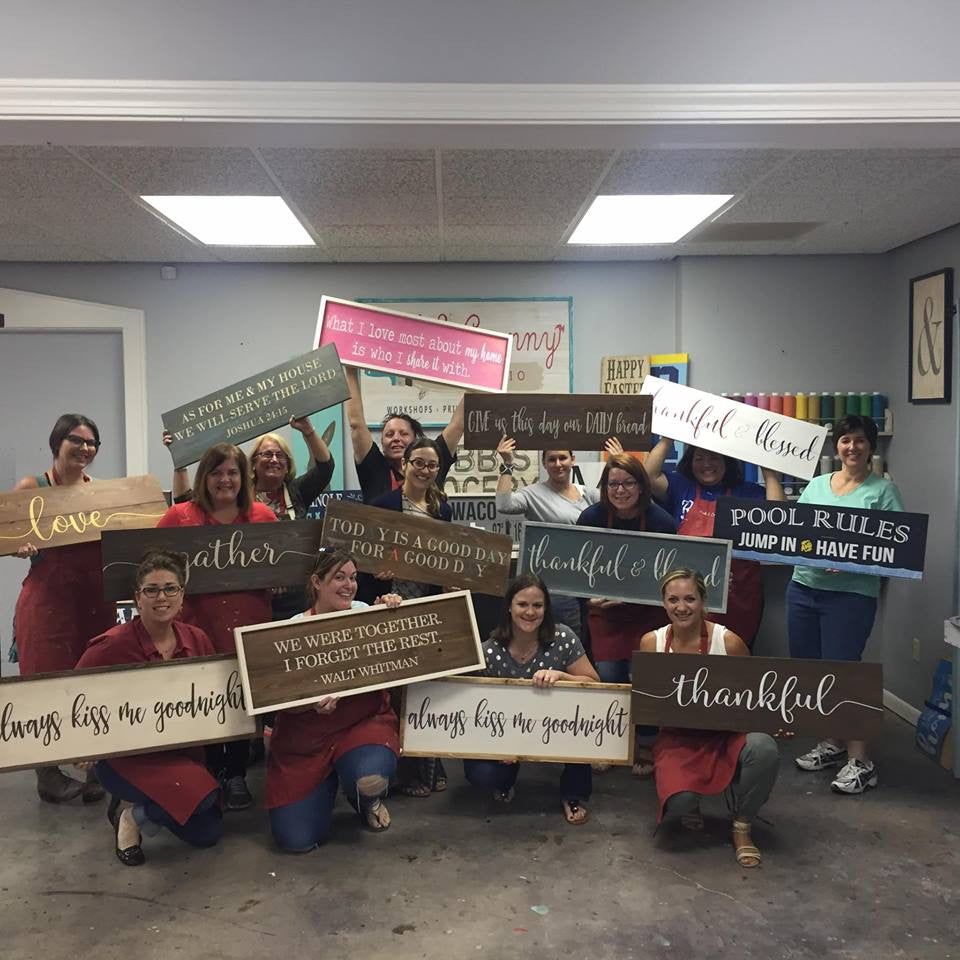 June 23rd 6:30pm Plank Wood Signs {over 30 designs to pick from}